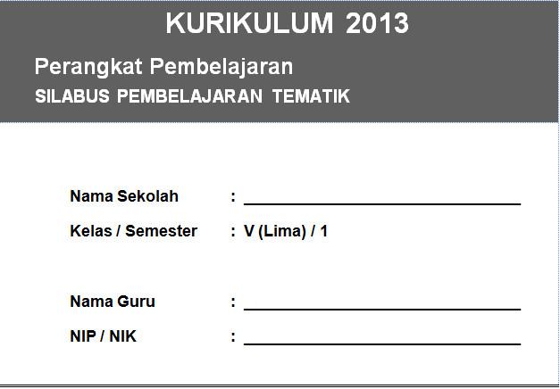 Silabus Kurikulum 2013 Integrasi Kelas 5 SD