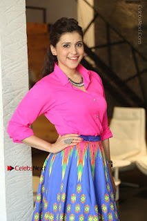 Actress Mannar Chopra in Pink Top and Blue Skirt at Rogue movie Interview  0022.JPG