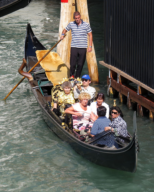 In gondola on the Grand Canal, Venice
