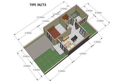 Contoh Gambar 3D Desain Rumah Minimalis Modern Terbaru 5