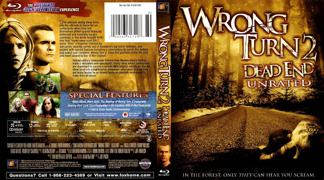 Wrong Turn 2 Dead End Unrated Bluray Cover