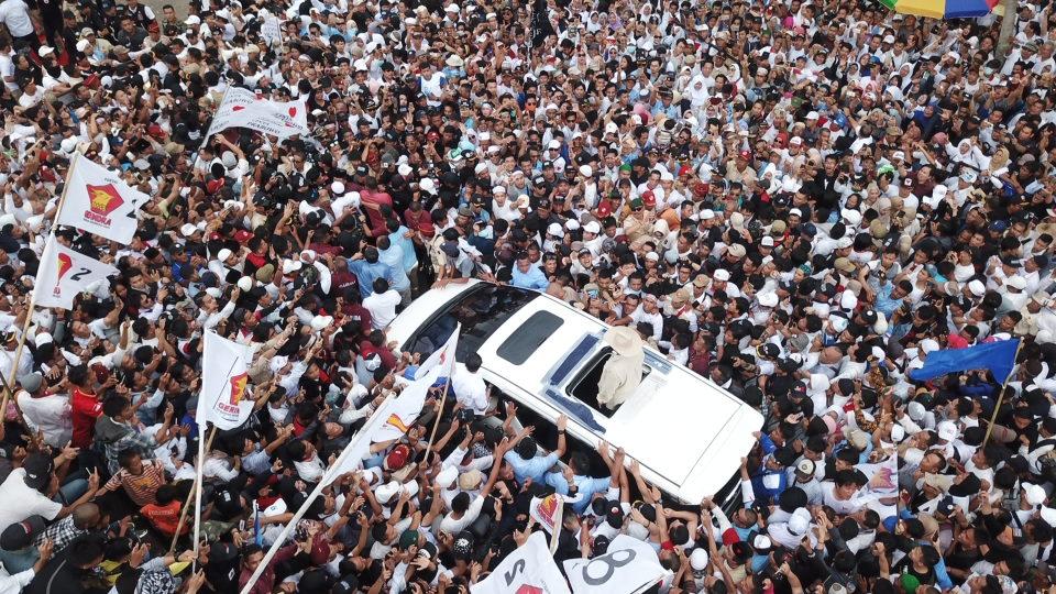 Tak Dimuat Media Nasional, Begini Penampakkan Massa Kampanye Prabowo di Palembang