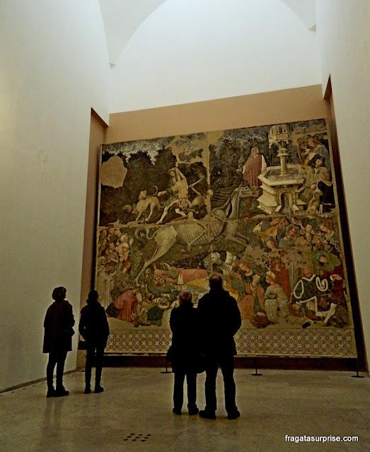 Afresco O Triunfo da Morte,  no Palazzo Abatellis, em Palermo, Sicília
