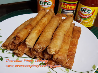 Fried Pork Lumpia Roll with Ham Dish