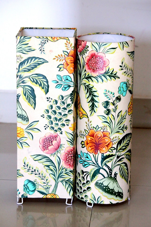 So Far We Have Been Working On Printed Fabrics, Kalamkaris, Ikats And The  Likes Of It For Our Lampshades. This Was The First Time We Were Using  Handpainted ...