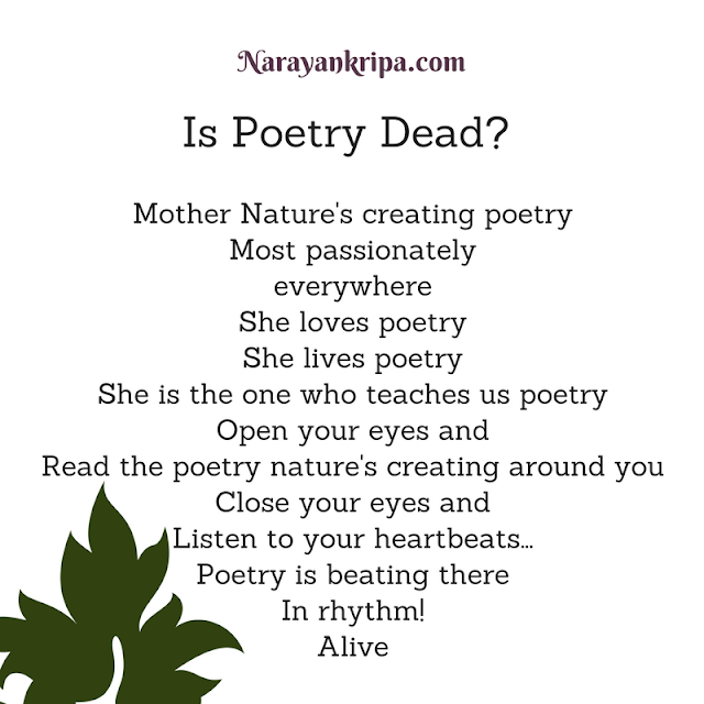 Text Image for Nature Poem: Is Poetry Dead?