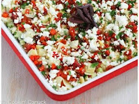 Healthy Mediterranean 7-Layer Dip