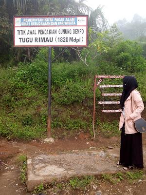 titik awal pendakian gunung dempo