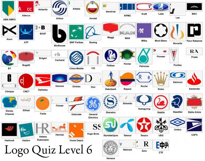 logos quiz with names level