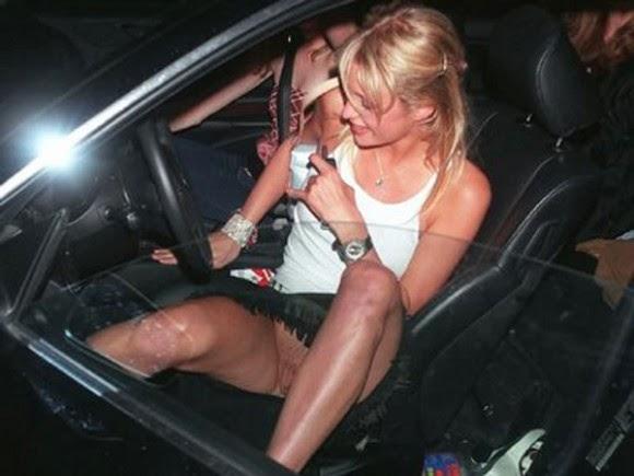 Paris Hilton borotvált puncija