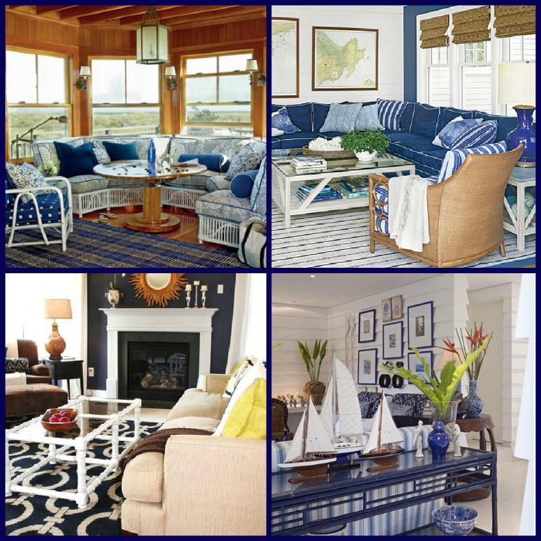 Nautical navy coastal rooms