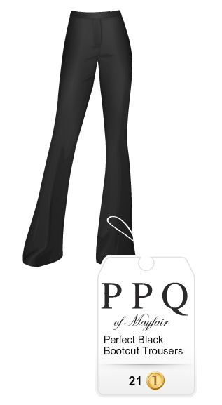stardoll black bootcut trousers