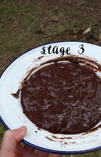 Campfire chocolate orange cake cooked in the woods 3