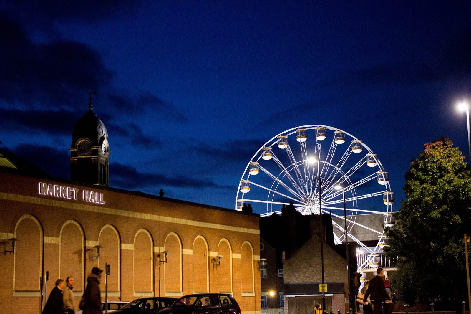 Derby Skyline, Derby Market Hall, Derby Market Place, Guildhall Derby, Derby Guildhall Theatre, Quad Derby, Katie Writes, Derbyshire, Derby Derbyshire,