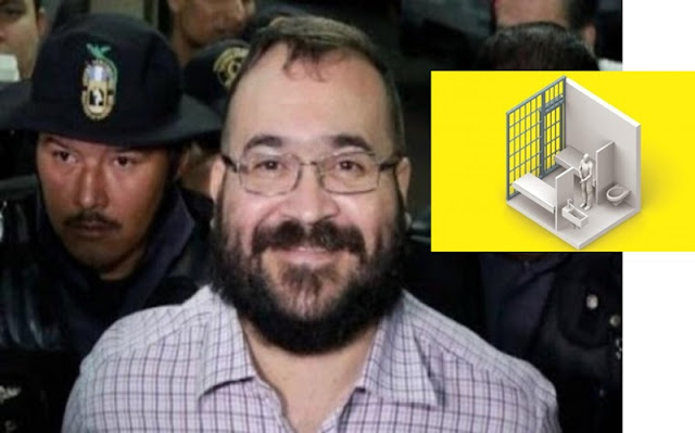 En México, Duarte ya no lava los baños, acá tiene una celda con comodidades, 4 Custodios lo Cuidan