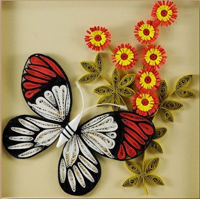 2015 butterfly model quilling art frames - quillingpaperdesigns