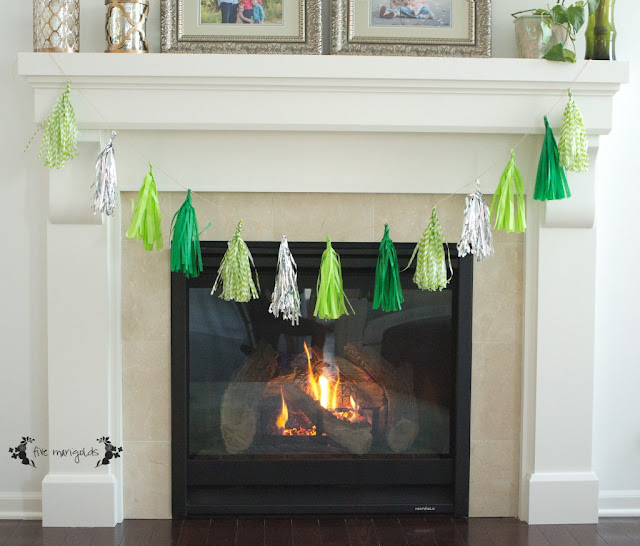 tassel bunting st. patrick's day decorating