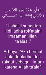 Niat Sholat Idul Adha imam