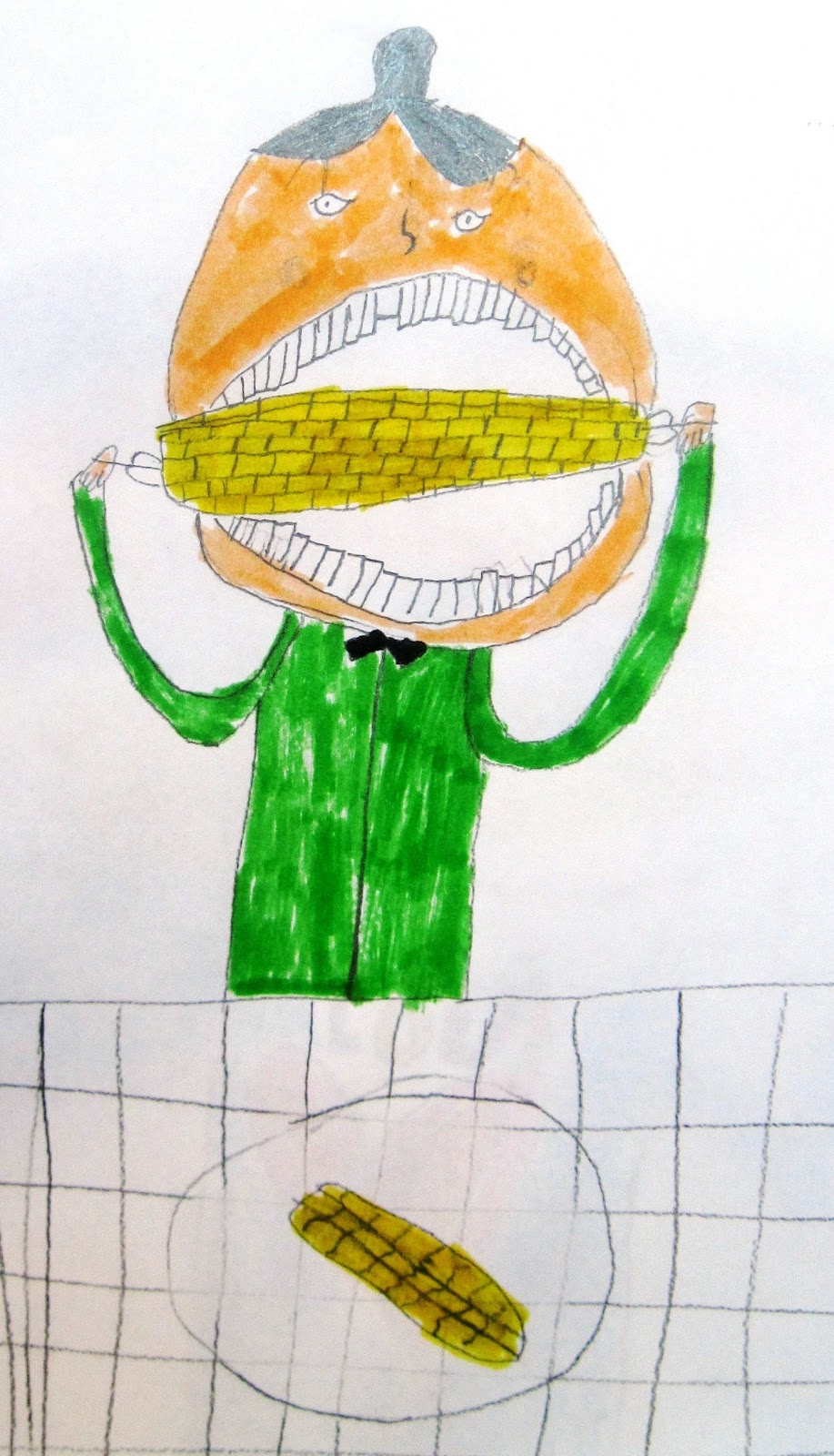 Lessons From The K 12 Art Room Corn On The Cob Portraits