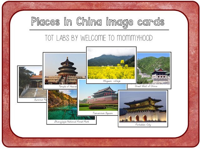 Montessori China image cards by Welcome to Mommyhood. Perfect for Chinese New Year.   #totlabs, #montessori, #Montessoriactivities, #montessoriprintables, #chinesenewyear, #geographyactivities,