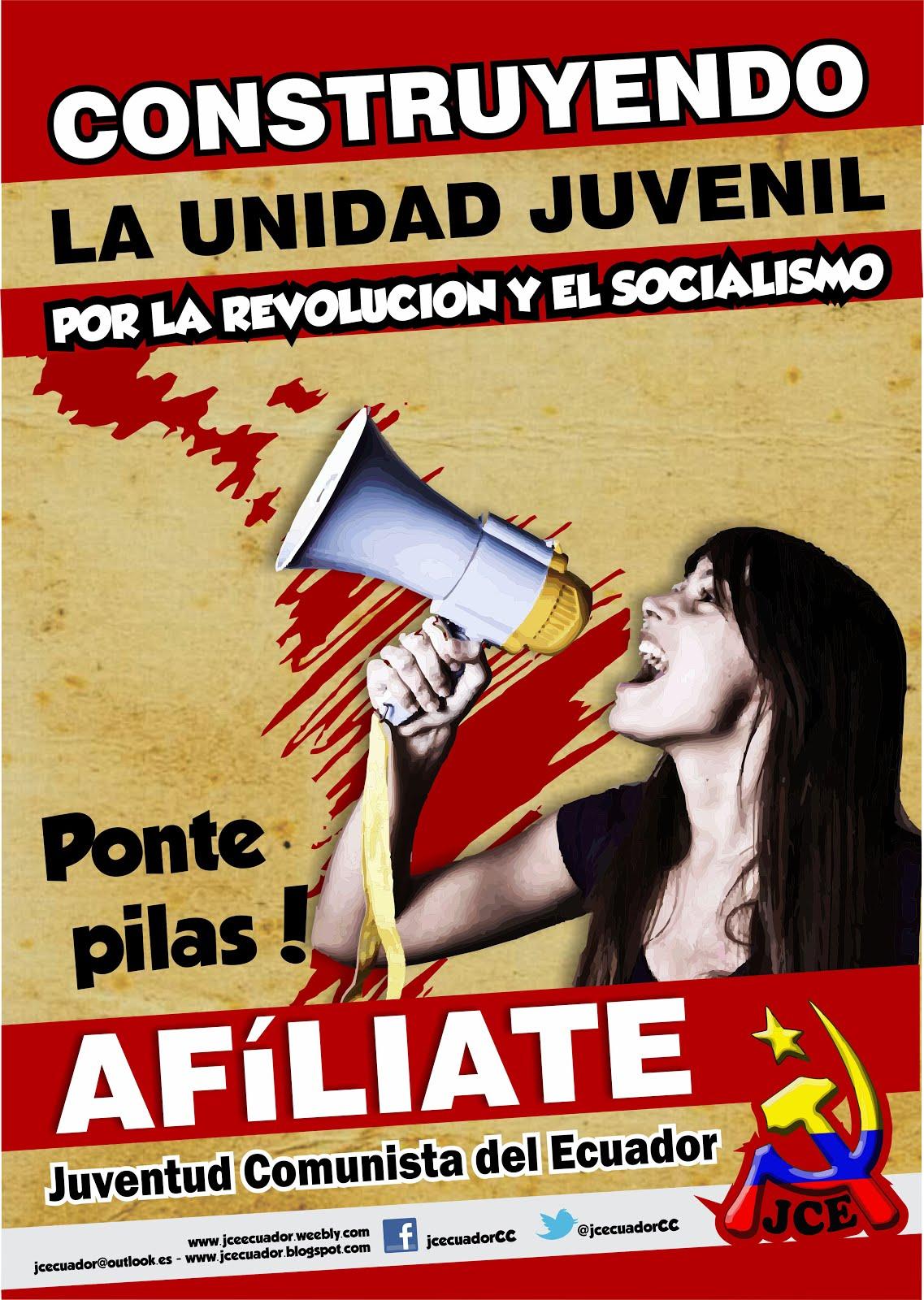 Afiliate a la Juventud Comunista