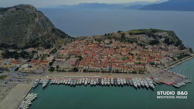 Μόντε Κάρλο το Ναύπλιο για το 5ο Mediterranean Yacht Show (βίντεο drone)