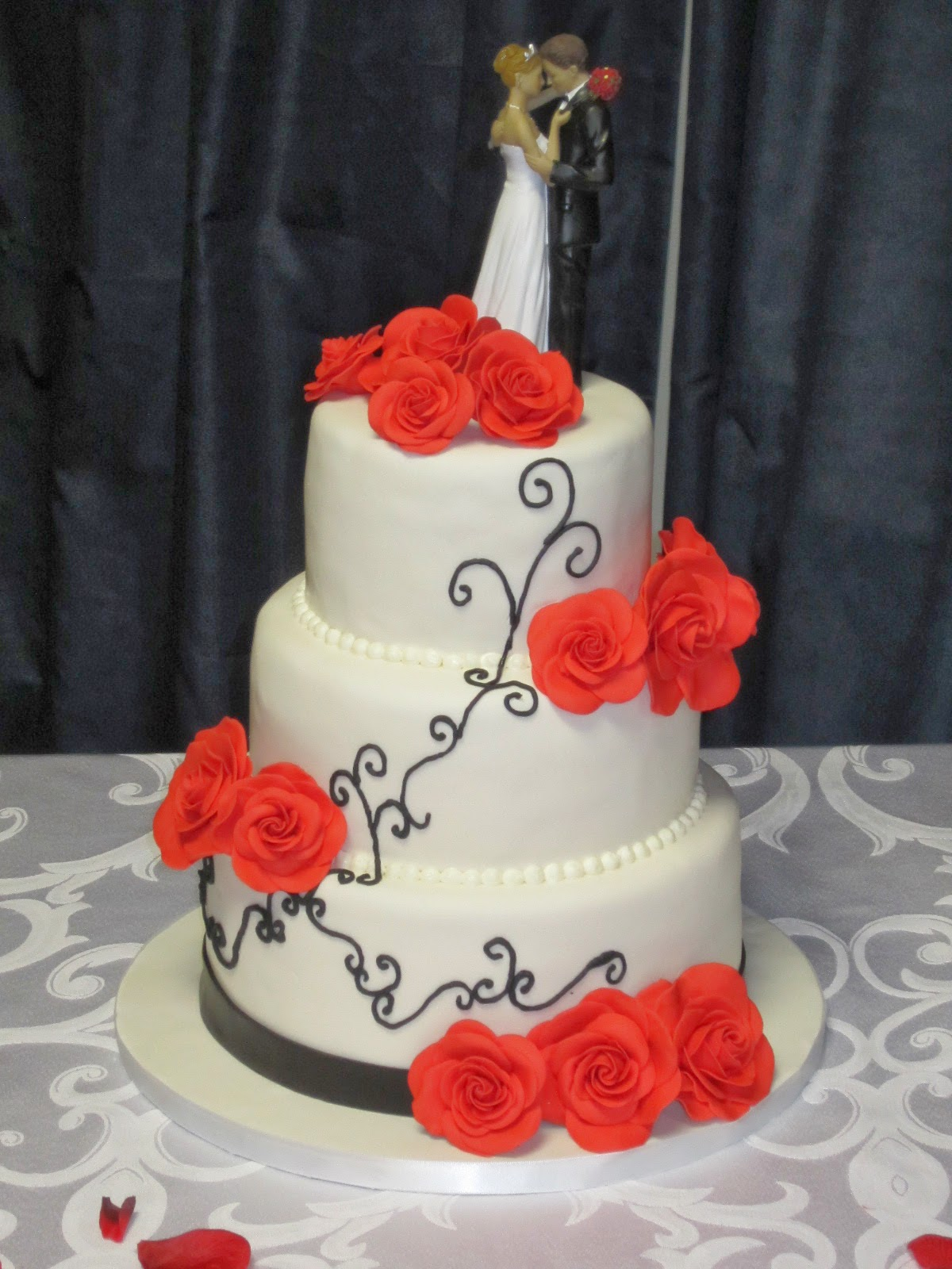 Red Wedding Cake Toppers