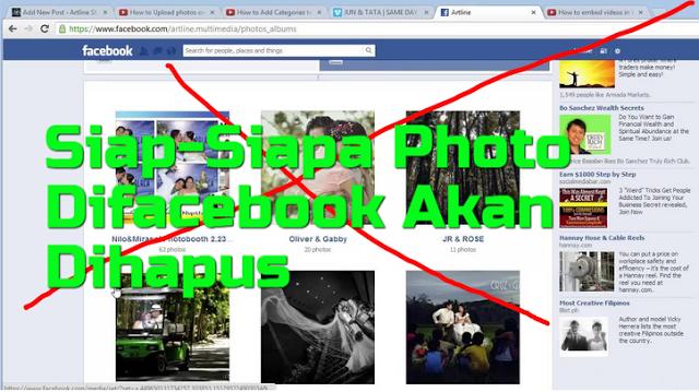 Siap-Siap, ISU Facebook akan Hapus Semua Foto Anda Mulai 16 October 2016 Ternyata Benar