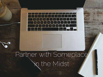 partner with someplace in the midst