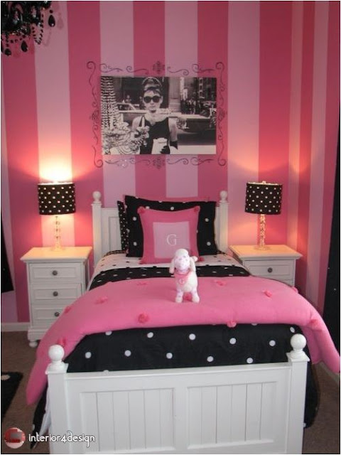 pink bedrooms for teen girls 12