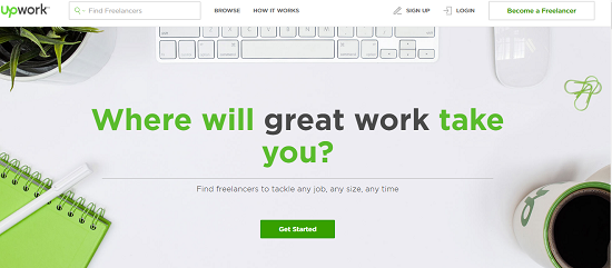 Upwork, freelancer website