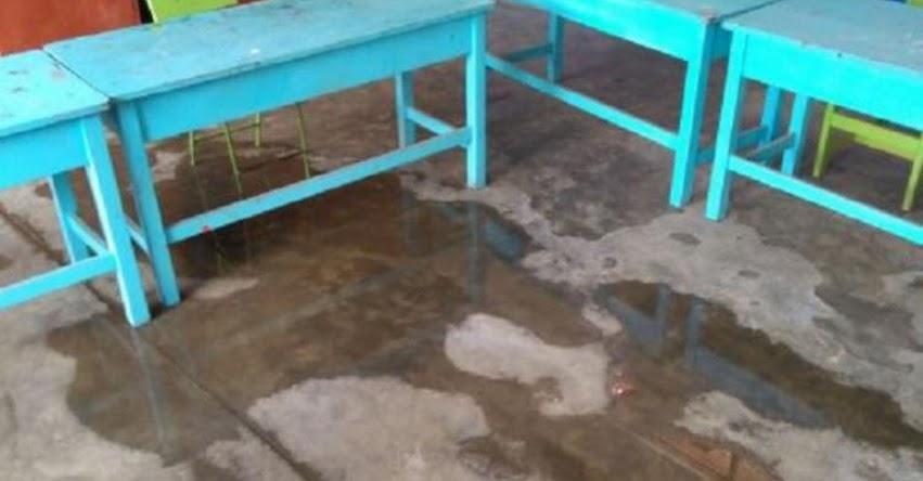 Colegio N° 54128, ubicado en Talavera colapsa por intensas lluvias en Apurímac