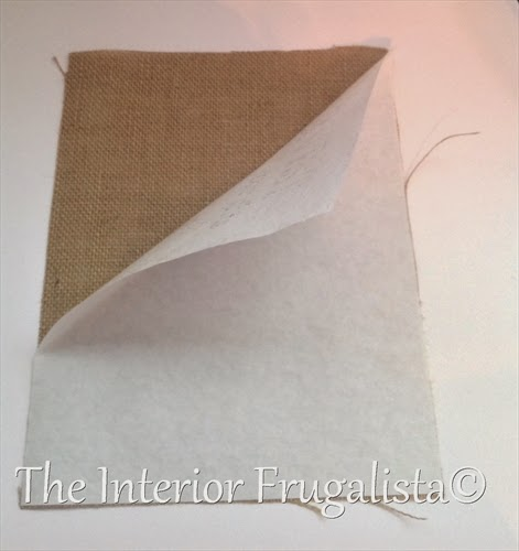 Removing freezer paper from back of burlap print