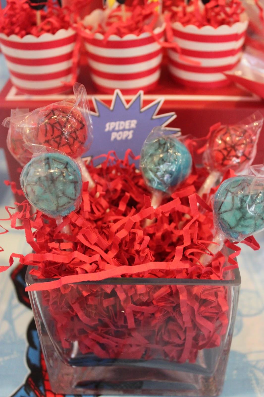 A SpiderMan Inspired 5th Birthday Party - via BirdsParty.com