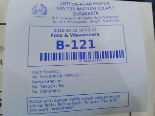 Nomor Antrian Daftar Paspor