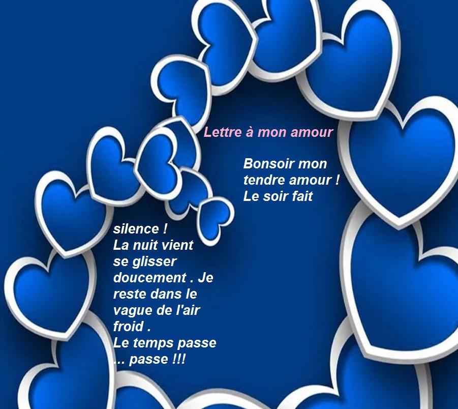 Lettre à mon amour: Bonsoir mon tendre amour !