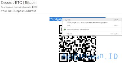 Transfer Bitcoin dari wallet ke coinexchange