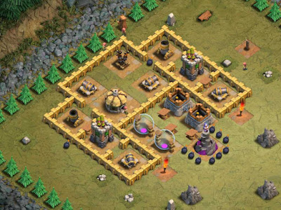 Goblin Base Clash of Clans Point Man