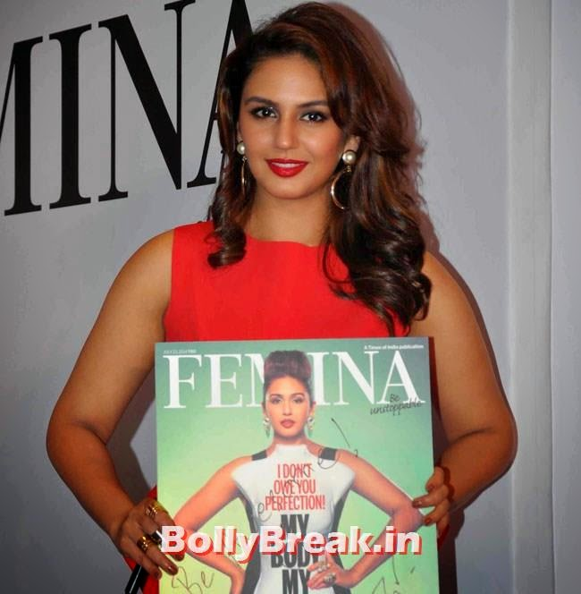 Huma Unveils Femina My Body My Rules, Huma Qureshi Pics in Red Top, White Skirt for Femina Magazine Launch