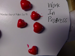 Work In Progress Red Hearts; just a sneak peek of something I'm working on.