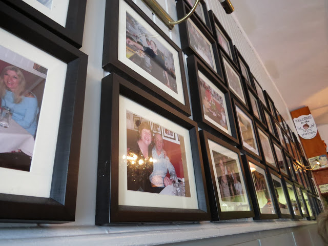 Photos on the wall of the Nuthouse Bistro in Killester
