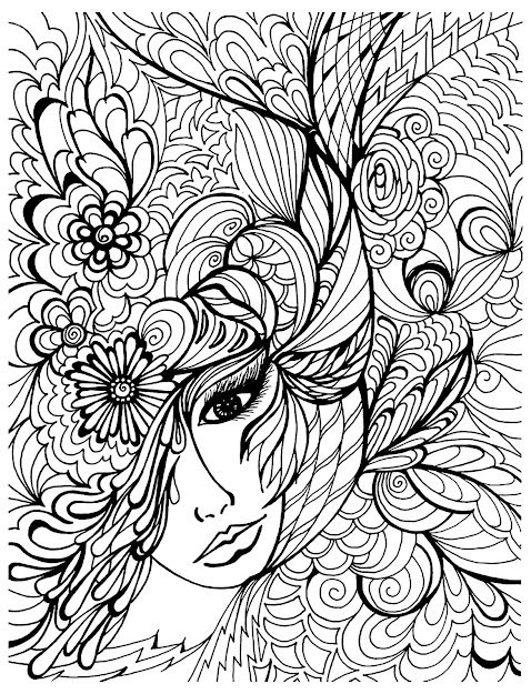 Zen And Anti Stress  Coloring Pages For Adults  Coloringfacevegetation
