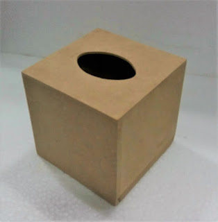 Crafts supply online shop in india buy arts crafts online step 1 coated the raw mdf tissue box using black acrylic paint and let it dry fandeluxe Image collections
