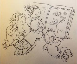 世界书籍日涂鸦