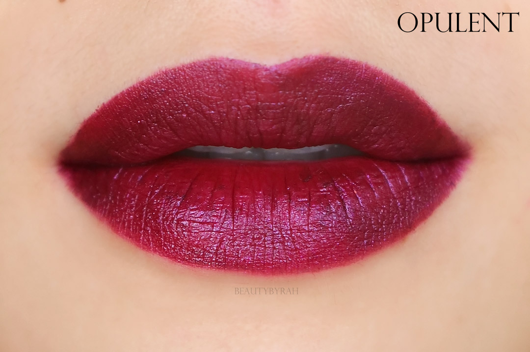 Palladio Velvet Matte Metallic Cream Lip Colour Lip Swatches
