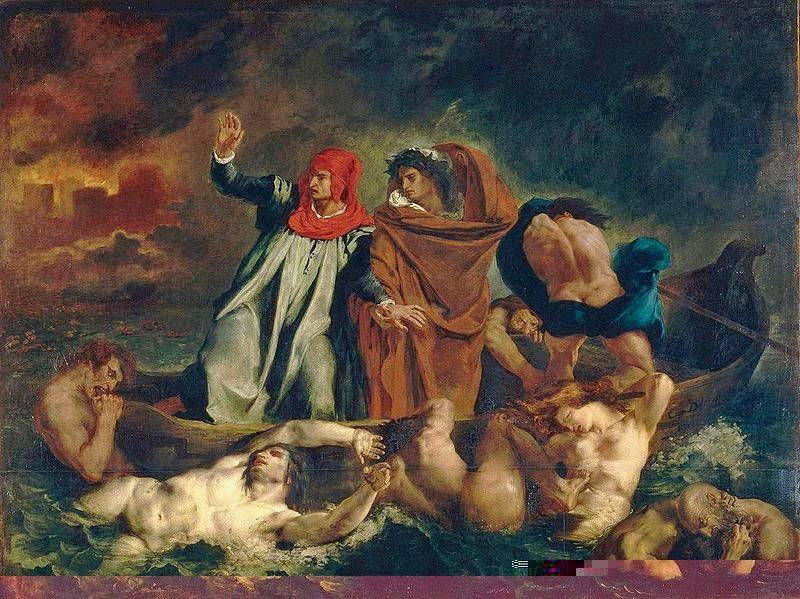 A Barca de Dante - Delacroix, Eugène e suas principais pinturas ~ Romantismo francês