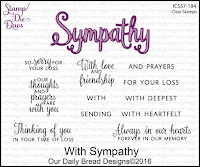 ODBD With Sympathy Stamp/Die Duos