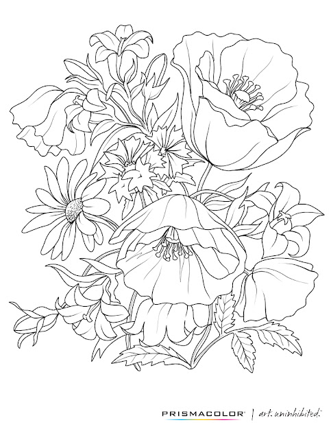 What Beautiful Flower Adult Coloring Page