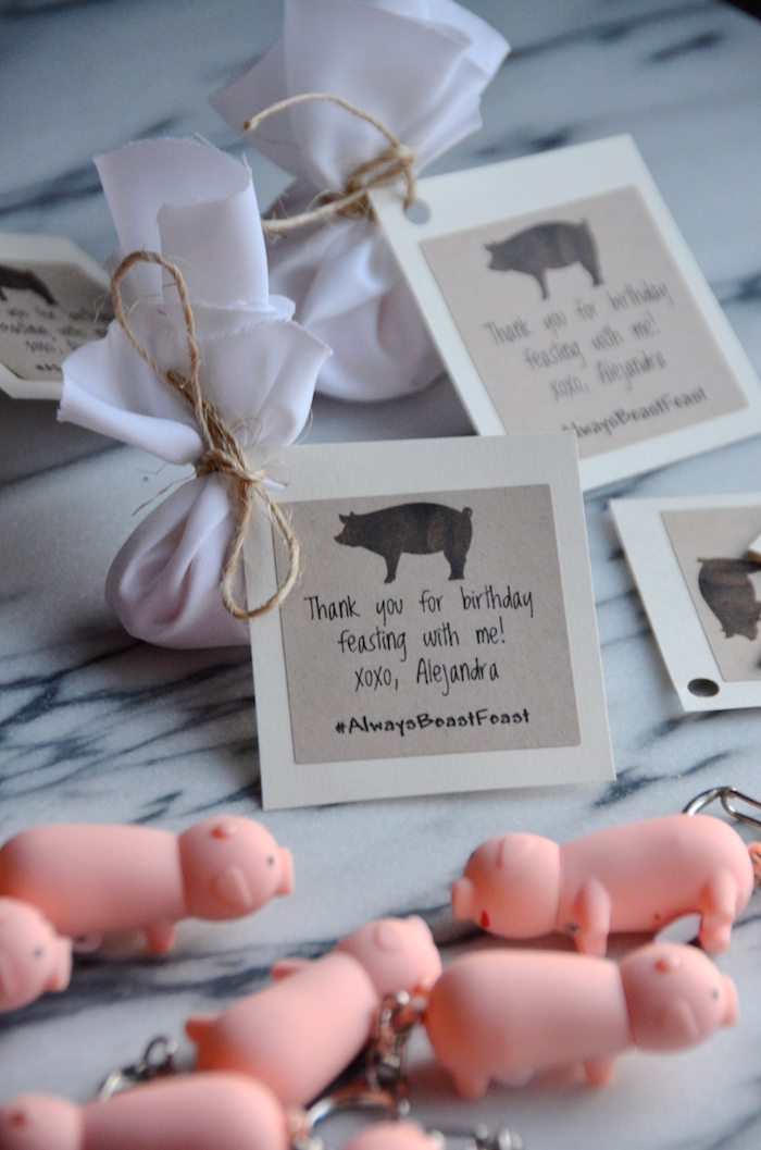 """Pig In A Blanket"" Party Favors"
