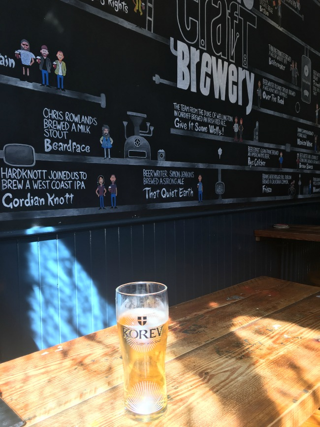 City-Of-The-Unexpected-Cardiff-Celebrates-Roald-Dahl-pint-of-Korev-lager-in-the-Cambrian-pub